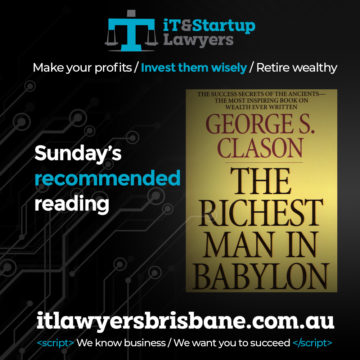 IT and Startup Lawyers - Sunday Reading
